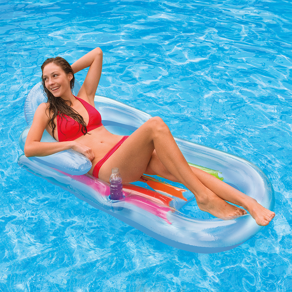 "Intex Inflatable King Kool Pool Lounge 63"" x 33.5"", Color may vary"