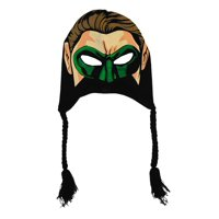 Green Lantern DC Comics Face Mask Adult Pilot Peruvian Laplander Hat