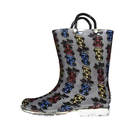 Zac & Evan Toddler Boys Printed High Cut Puddle Proof Rain Boots (See More Designs and Sizes) (9-10 M US Toddler,