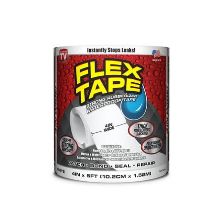 Flex Tape Rubberized Waterproof Tape, 4 inches x 5 feet,