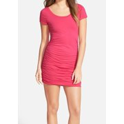 Splendid NEW Pink Size Medium M Junior Stretch Bodycon Rushed Dress