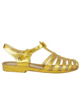 21f8632ca27b Product Image Womens Summer T-Strap Retro Jelly Rain Flat Sandals