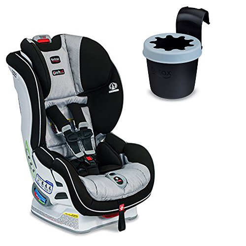 Britax Boulevard ClickTight Convertible Car Seat (Trek) With Black Cup Holder Bundle