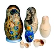 School Specialty Unfinished Nesting Doll, Pack 7