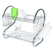 BURROW HOT SALE Dish Racks for Kitchen, Multifunctional Dual Layers Bowls & Dishes & Chopsticks & Spoons Collection Shelf Dish Drainer