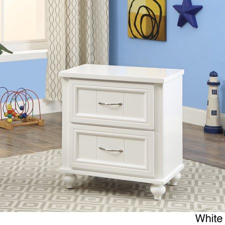Furniture Of America  Alicia Cottage Style 2 Drawer Youth Nightstand
