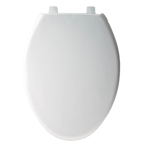 Church 383SS Commercial Plastic Elongated Toilet Seat, White