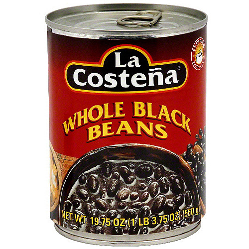La Costena Whole Black Beans, 19.75 oz (Pack of 12)