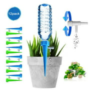 Peroptimist Plant Waterer, 12pcs Automatic Plant Waterer Device Irrigation Drippers with Slow Release Control Valve Switch, Self Plant Watering Spikes System for Outdoor Indoor Flower or Vegetables