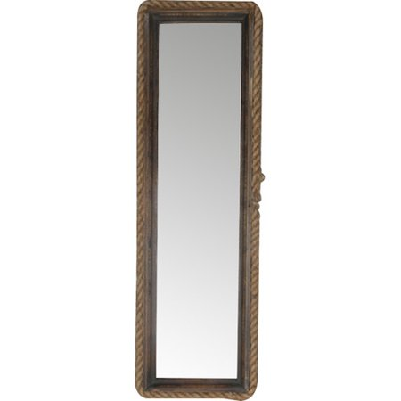 Gracie Oaks Muth Long Wall Mirror With Rope Rim Metal Frame