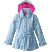 Pink Platinum Little Girls' Animal Print Trench Jacket Spring Coat