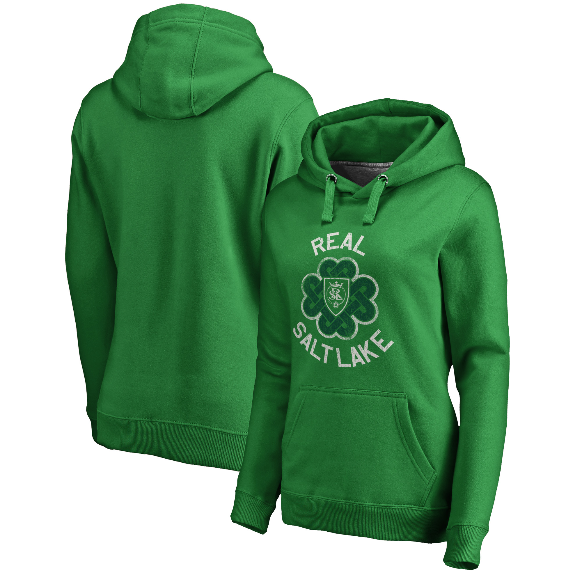 Real Salt Lake Fanatics Branded Women's St. Patrick's Day Luck Tradition Pullover Hoodie - Kelly Green