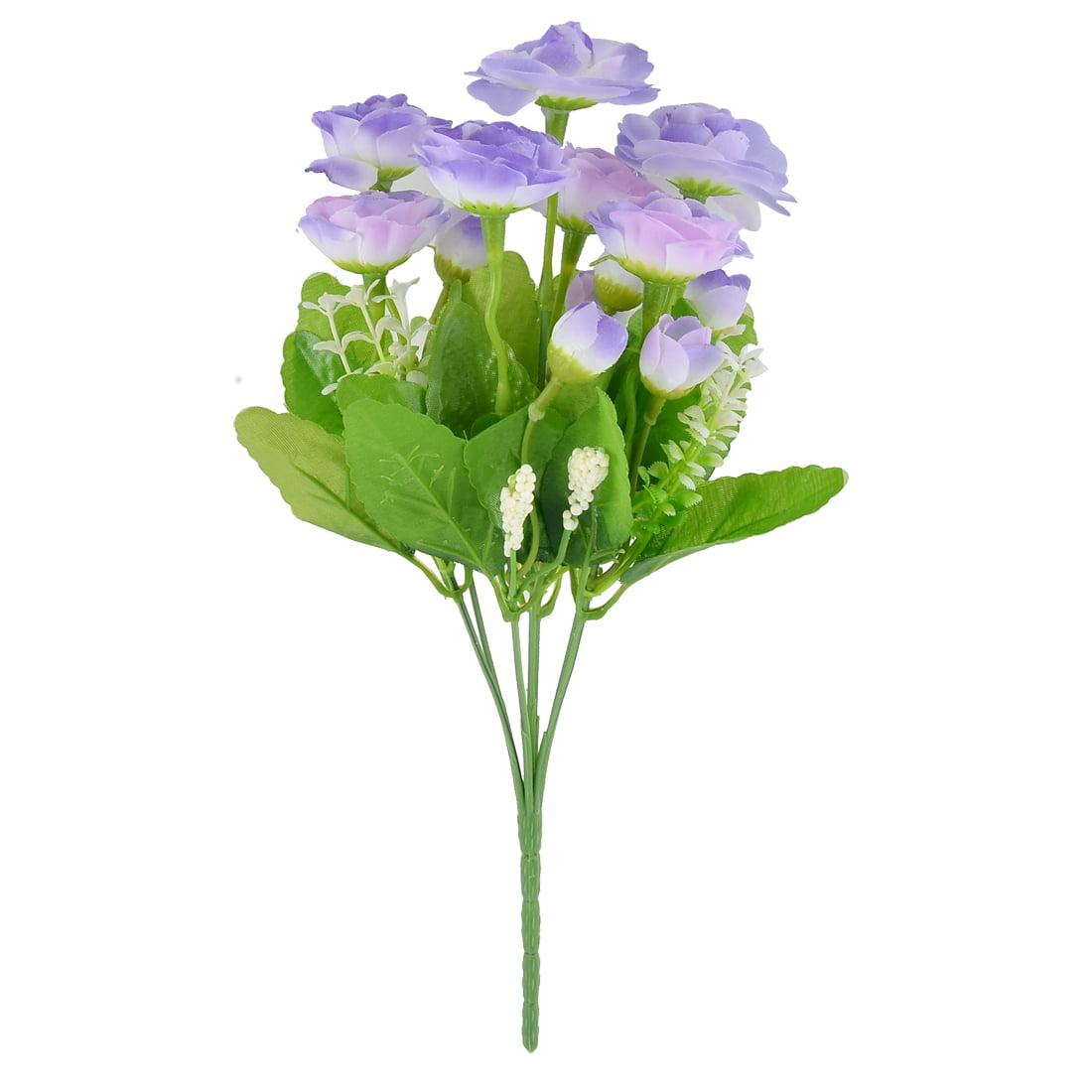 Unique Bargains 30cm Long Wedding Party Decor Rose Buds Artificial Flower Bouquet