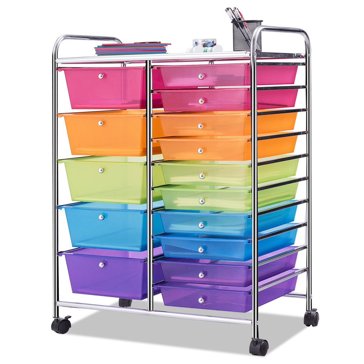 15 Drawer Rolling Storage Cart Tools