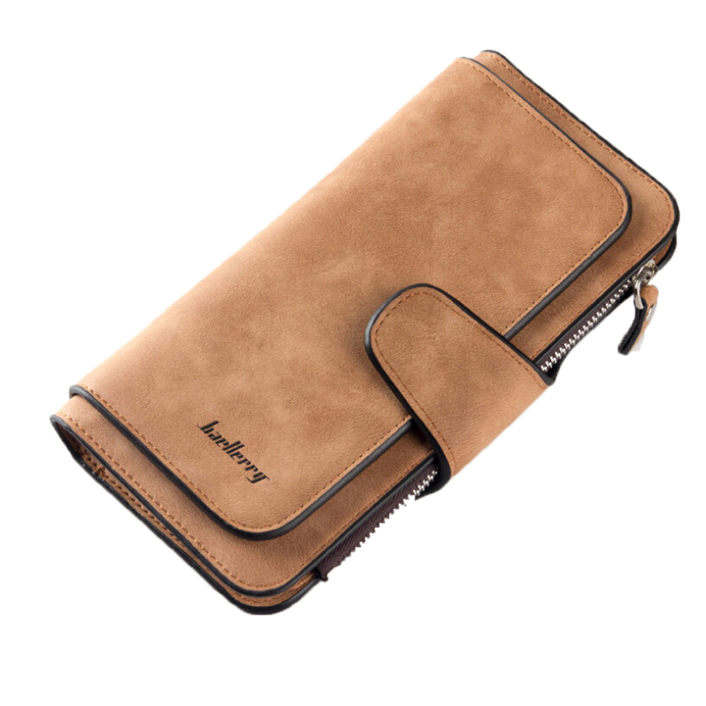 Women Clutch Leather Wallet Long Card Holder Phone Bag Case Purse lady Handbags Smoke Gray