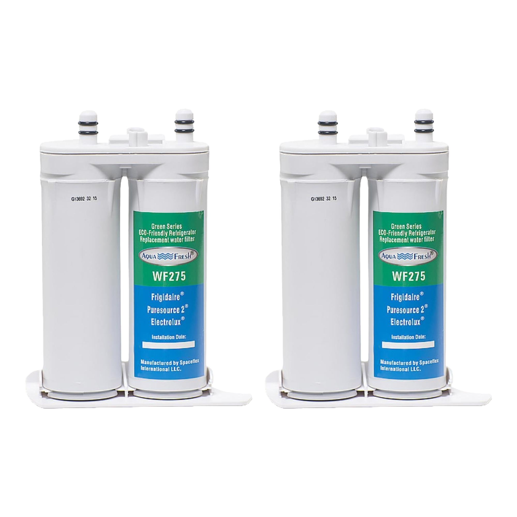 Replacement Aqua Fresh WF275  Water Filter for Frigidaire WF2CB / PureSource2 - 2 Pack