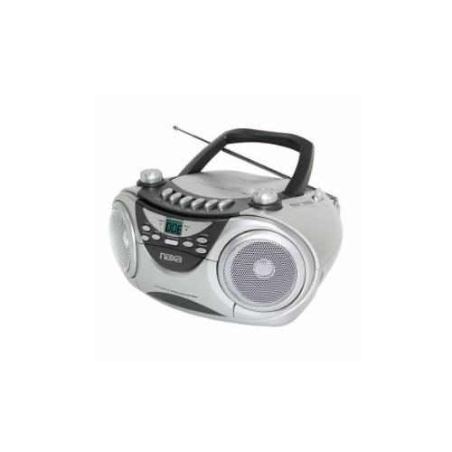 Naxa NPB-241 Portable CD Player, AM/FM Stereo Radio & Cassette Player/Recorder