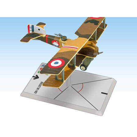 Breguet BR.14 B2 - Escadrille Br 111 New Breguet 14s were assigned to Escadrille 111 in October 1917. During the war, the unit scored 15 victories. This model includes cards for optional armament and crew skills.