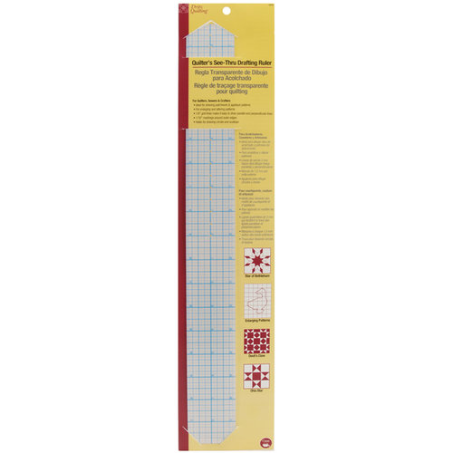 Dritz 651540 Dritz Quilting See-Through Drafting Ruler -