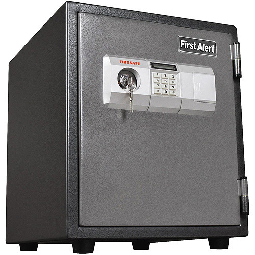 First Alert 1.9 cu. ft. Steel 1-Hour Fire and Anti-Theft Safe with Electronic Lock, 2118DF