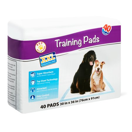 Pet All Star XXL Training Pads, 30 in x 36 in, 40 Count (Puffy Pads)