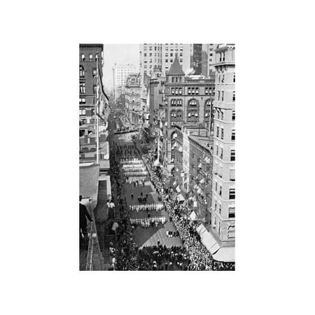 Navy Parades Through Streets of New York City Print (Unframed Paper Print 20x30) - New York City Halloween Parade