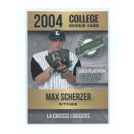 2004 Rookie Phenoms Max Scherzer Gold Platinum La Crosse Loggers Rookie Card