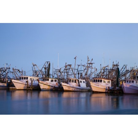 Fulton Harbor and oyster boats Print Wall Art By Larry Ditto