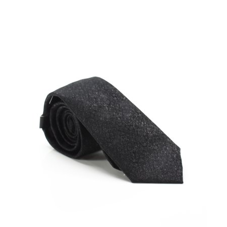 Black Men's Lawrence Solid Slim One Silk Blend Neck Tie $52 Not Applicable