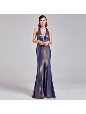 6781da4bea1f Product Image Ever-Pretty Women s Sexy Halter Neck Floor Length Metallic  Evening Dresses for Women 07206 (
