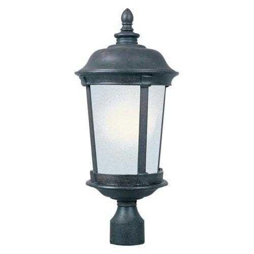 Maxim Dover DC Outdoor Post Lantern - 25.5H in. Bronze, ENERGY STAR
