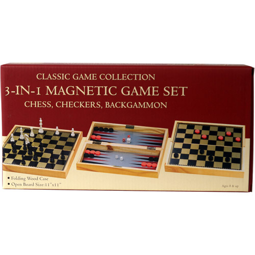 3-in-1 Magnetic Game Set