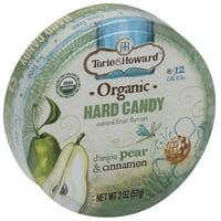 Torie & Howard d'anjou Pear & Cinnamon Organic Hard Candy, 2 oz, (Pack of 8)