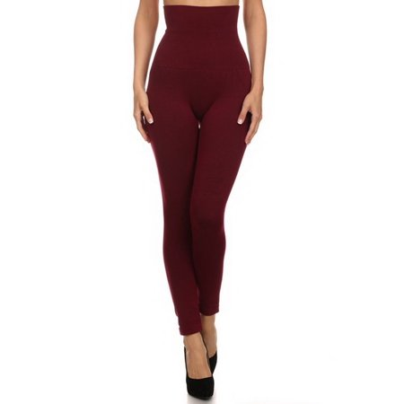 362761fffd679c Belle Donne - Belle Donne- Women's High Waist Compression non-Fleece /  Stylish Leggings - Wine - Walmart.com
