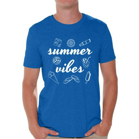 Awkward Styles Summer Vibes Men Shirt Vacation Shirts Summer Hawaiian T-Shirt Men's Vacay Shirt Summer Party Outfit Funny Gifts for Summer Hawaiian Tshirt Beach Shirts for Men (Funny Hawaiian Shirts)