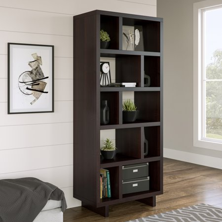 Better Homes & Gardens Steele Geometric Bookcase, Multiple -