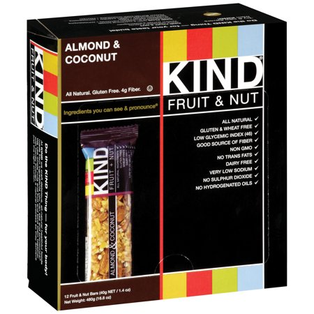 Kind Fruit and Nut Bars Almond and Coconut, 1.4 oz, 12 Count