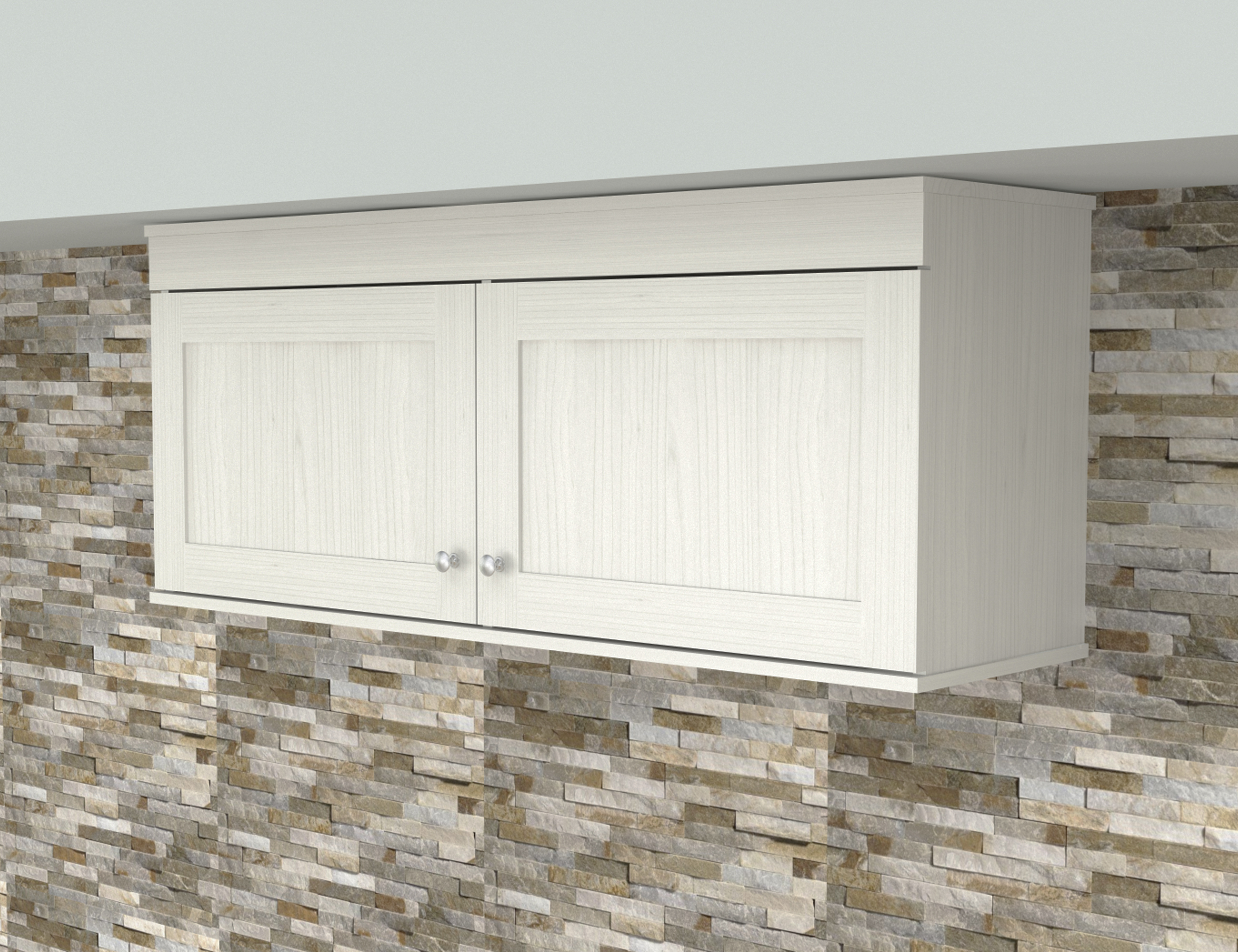 Inval Shaker Wall Mounted 2-Door Laminate Kitchen Cabinet ...