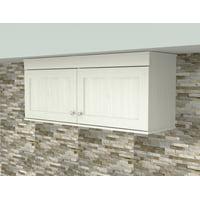 Inval Shaker Wall Mounted 2-Door Laminate Kitchen Cabinet, Washed Oak