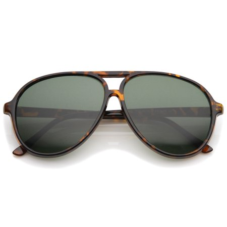 sunglassLA - Retro Flat Top Teardrop Shaped Neutral Colored Lens Aviator Sunglasses 59mm - 59mm](Star Shaped Sunglasses)