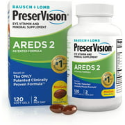 PreserVision AREDS 2 Eye Vitamin & Mineral Supplement Soft Gels, 120 Ct