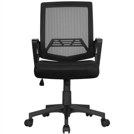 Height Adjustable Mesh Office Chair Swivel High Back Ergonomic Rolling Office Chair Computer Chair Desk Chair for Office/Home, Black