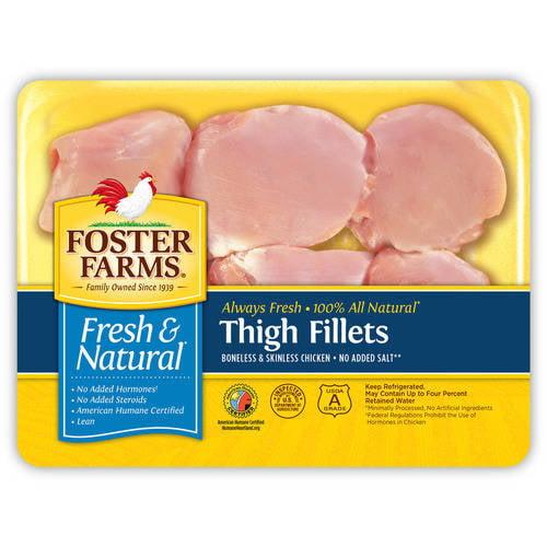 Foster Farms Boneless Skinless Chicken Thighs, 1.4 - 2.2 lbs