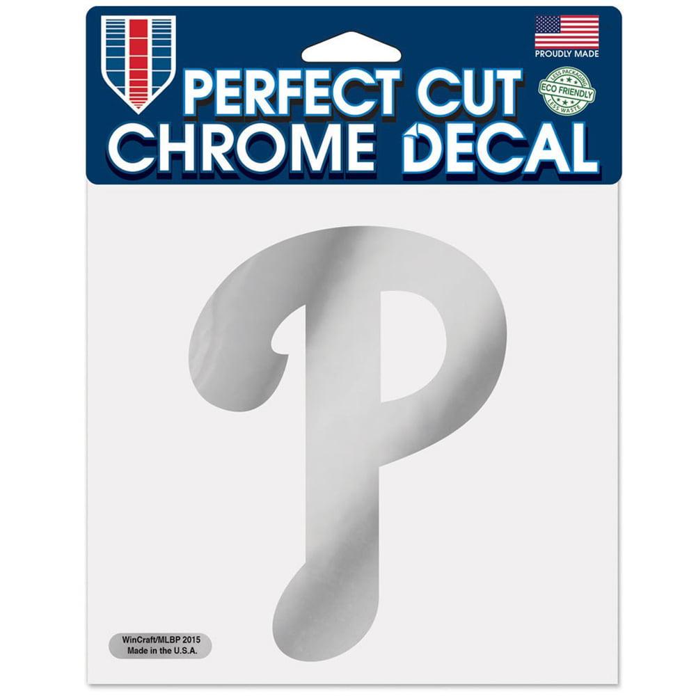 "Philadelphia Phillies WinCraft 6"" x 6"" Chrome Decal - No Size"