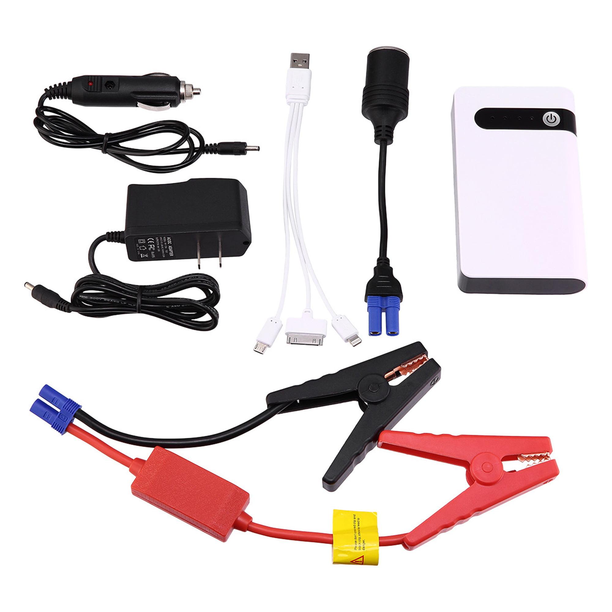 BIYI 12V 20000mAh Mini Portable Multifonctionnel De Voiture Jump Starter Power Booster Chargeur de Batterie Emergency Start Charger noir
