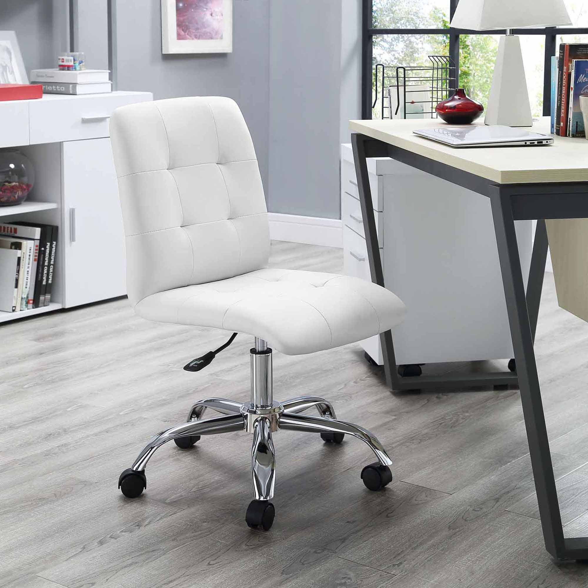 with seen in chiar as the chair plus and images armless desk black gallery upholstered white modern most armles home stacking well casters office chairs furniture brown awesome