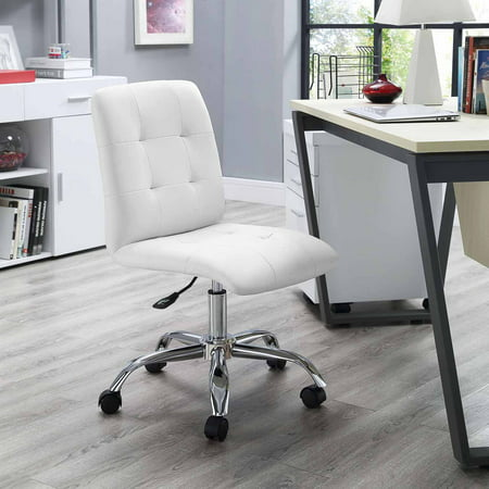 Modway Prim Armless Midback Leatherette Office Chair