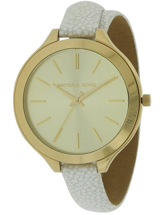 Michael Kors Slim Runway Leather Ladies Watch MK2477