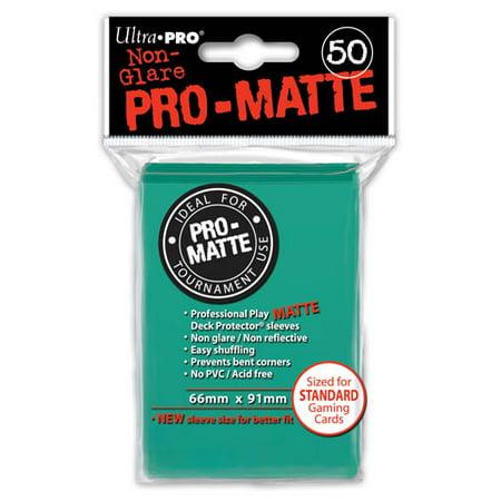 Ultra Pro Pro Matte Aqua Deck Protector 50 Count P