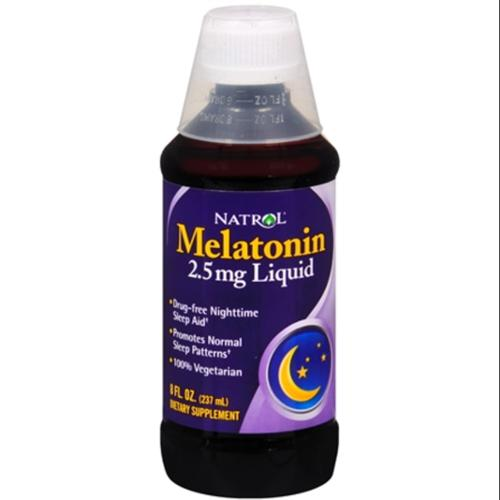 Natrol Melatonin 2.5 mg Liquid 8 oz (Pack of 2)